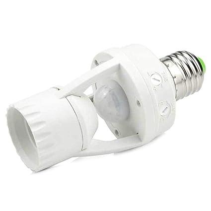 LanLan Base Lámpara E27 Portalámparas Interruptor Sensor de Movimiento PIR de Infrarrojos