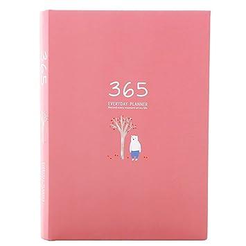ANTOPM Agenda Planificador diario/Planificador semanal Planificador Calendario Organizador mensual Agenda diaria Sin fecha para niña/mujer/adultos ...