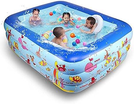 XIE - Piscina hinchable para niños con tres piscinas de PVC, 250 x ...
