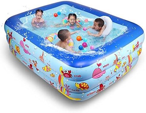 XIE - Piscina hinchable para niños de PVC, tres grandes, hinchable ...