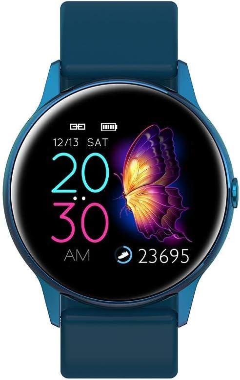 SunniY Bluetooth Smart Watch Donna, Donna Moda Sport Salute Smart Watch Fitness Bracciale Orologio Impermeabile Schermo A Sfioramento Cardiofrequenzimetro iOS Android Colla Blu