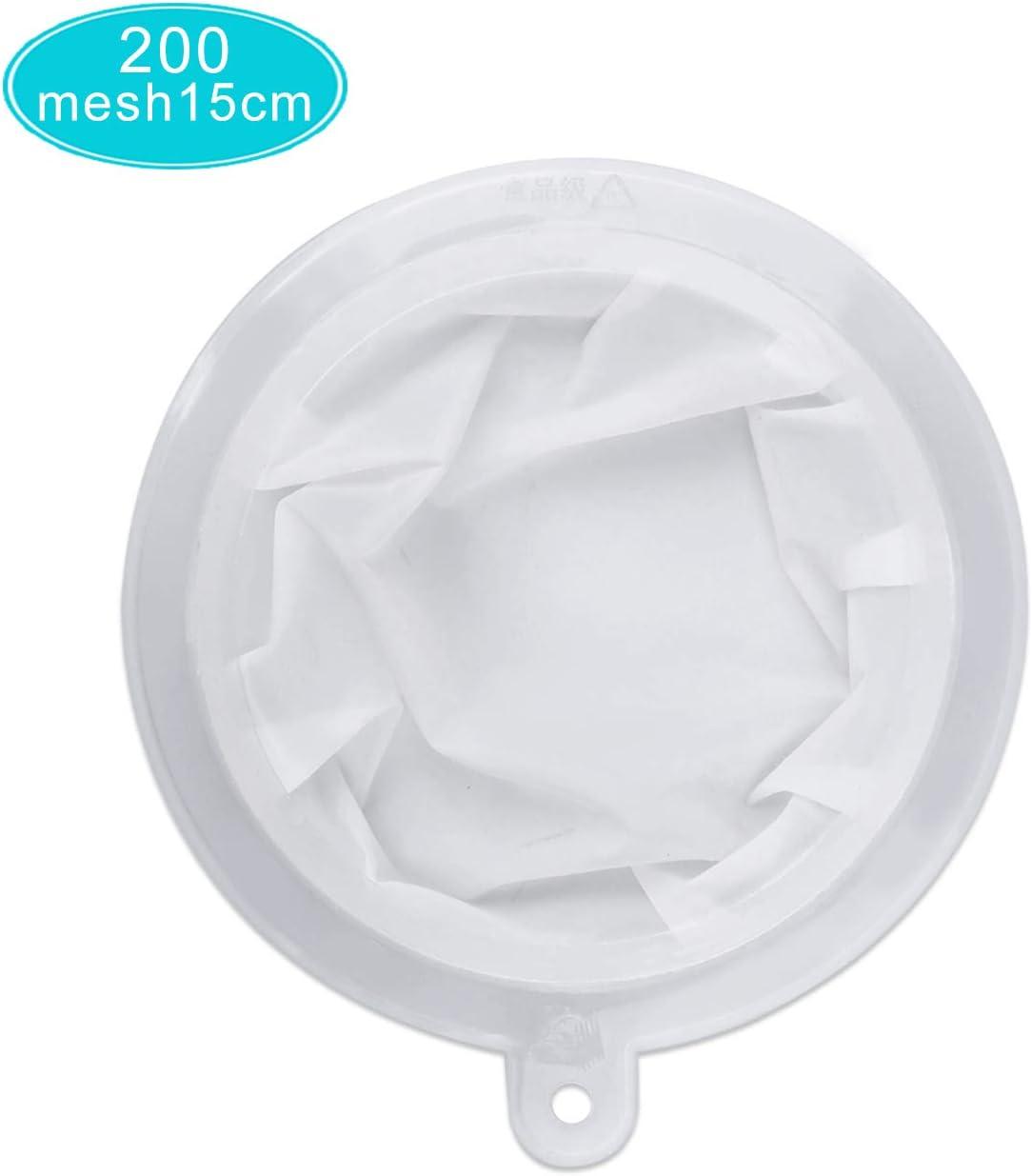 200 Mesh HAUSPROFI Sieb Filter Kompatibel mit 15cm K/üchen Trichter f/ür Filterung von Saft Kaffee Wein Milch