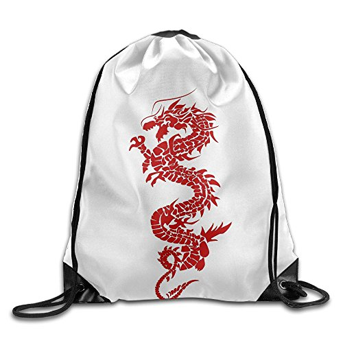 Beam Drawstring Storage Bag Travelling Loong Chinese Bundle Canvas Gym Ball Backpack