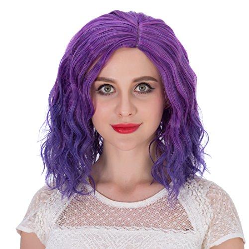 Short Curly Wavy Retro Woman Full Wigs Hair - 3