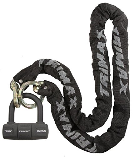 Trimax THEX5060 Combo Set - THEX Super Chain 5' x 11mm + MAX60 Disc U-Lock (Best Lock For Vespa)