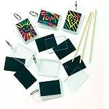 Baker Ross Llaveros para Rascar Manualidades Creativas Scratch Art para Niños Perfectas para Crear Decoraciones y Adornos Personalizados (Pack de 6)