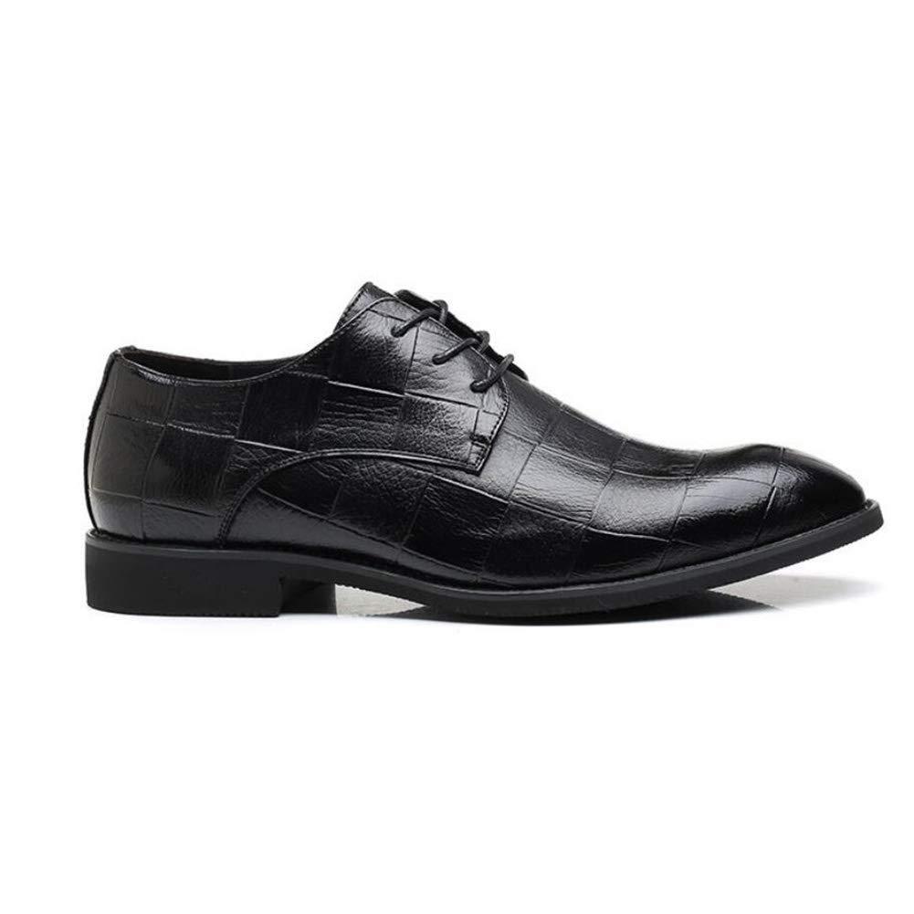 2018 Herren Lederschuhe, Frühling Herbst Spitz Schuhe, Lace up Formale Business Schuhe, Koreanische Version der Atmungsaktive Schuhe, Plaid Schuhe (Farbe   B, Größe   38) ( Farbe   C , Größe   39 )