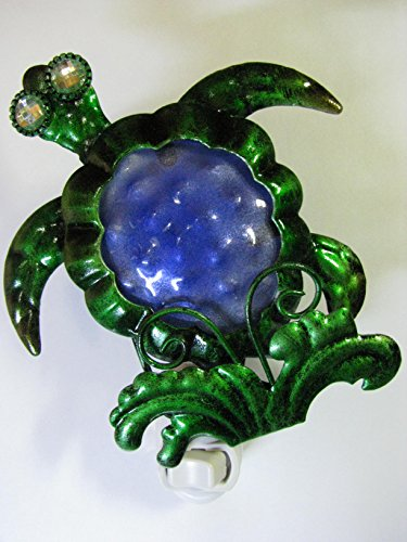Sea Turtle Night Light; Hand Crafted, Great baby shower gift; Get safety, security and a beautiful home accent (Avenue Baby Lamp)