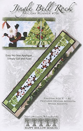 (Jingle Bell Rock Christmas Happy Hollow Holiday Table Runner Pattern 791)