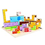 13 pieces of wooden animal puzzle toys - cartoon animal puzzle educational toys. (C)