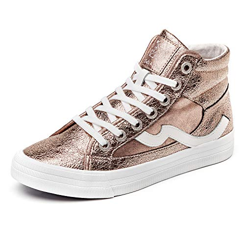 Salt&Seas Women Adults Fashion Sneakers High Top Lace Up Casual Shoes Gold