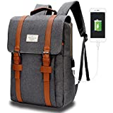 MODOKER Laptop College School Backpack & USB Charge Port Fits 15in Gray (Small Image)
