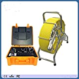 KOHSTAR 60m push rod cable pipeline sewer drain inspection camera with DVR function and meter counter V8-3388