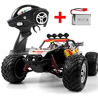 DAZHONG Wltoys A959 Remote Control Car , 1:18 Scale 2.4G 4WD RTR 32MPH High Speed Off-Road RC Racing Car with Built-in Li-Po Battery,Shock Mitigation System