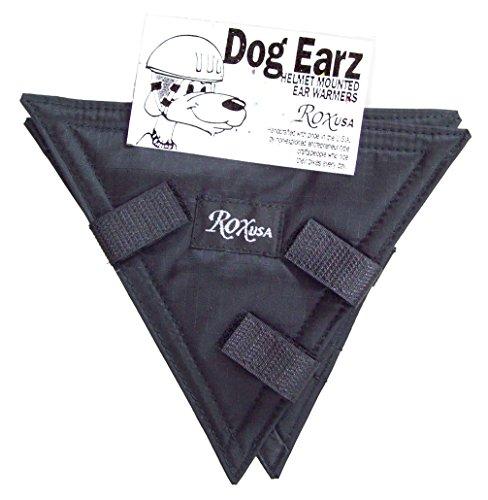 Rox Dog Earz Helmet Mounted Ear Warmers, Black