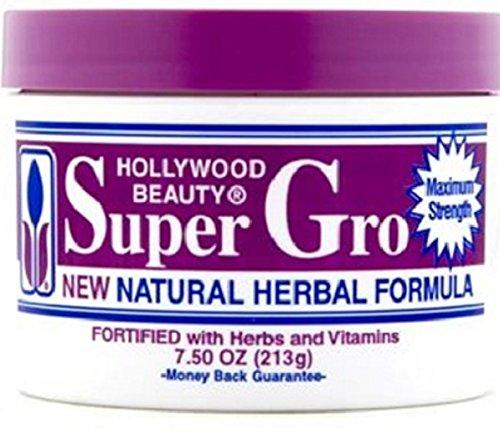 Hollywood Beauty Super Gro Herbal Formula, 7.5 Ounce