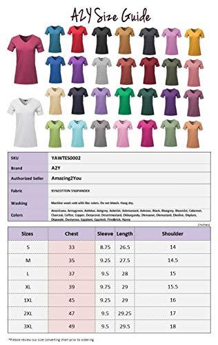 0c9c8132c56d57 Women s Basic Solid Premium Cotton Short Sleeve V-Neck T Shirt Tee Tops (S