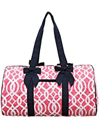 Geometric Themed Prints NGIL Large Quilted Duffle Bag