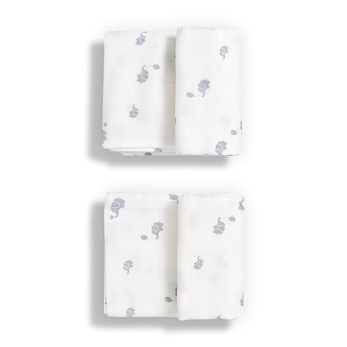 Gloop Paño de muselina para Cuidado del bebé, Algodón Orgánico tradicional (2 unidades), color blanco: Amazon.es: Bebé