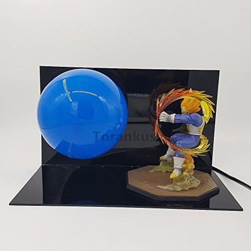 Bust Lamp - Dragon Ball Z Vegeta Super Saiyan Action Figure Led Light Anime Dragon Ball Z Figurine Model Toy Kamehameha Table Lamp