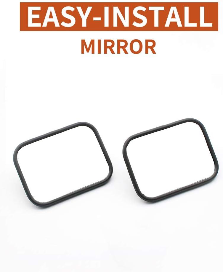 2 Pack quick release mirror for 1997-2018 Jeep Wrangler TJ JK JKU rectangular rearview mirror FLYFISH Jeep mirror