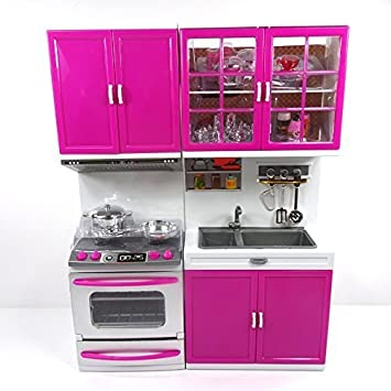 Amazon.com: Envo Toys Play Kitchen For Toddlers Toy Kitchen ...
