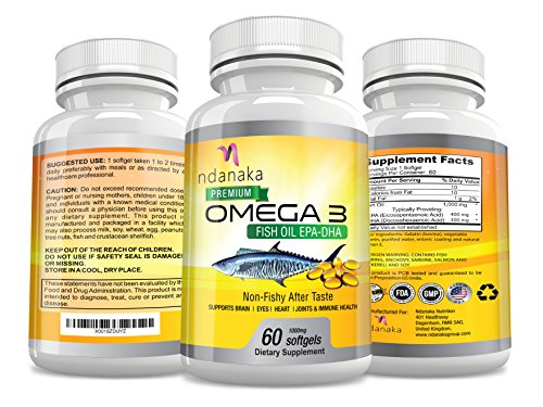 OMEGA 3 FISH OIL with EPA DHA 1000mg Softgels Vitamins Supplements Heart, Eye, Joint Support No Fishy - Supplements Oils Vitamins