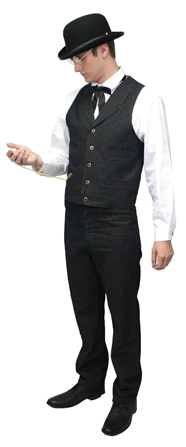 Victorian Men's Clothing  Humboldt Striped Dress Vest $59.95 AT vintagedancer.com