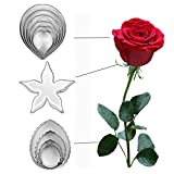 rose leaf cookie cutter - DOOGA 11pcs/set Stainless Steel Rose Petal Cake Cookie Cutter Mold Pastry Baking Mould (rose)