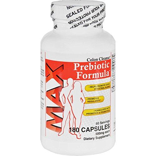 Health Plus Prebiotic Formula - Colon Cleanse Max - 180 Capsules - Gluten Free - Yeast Free-Wheat (Max Colon Cleanse)