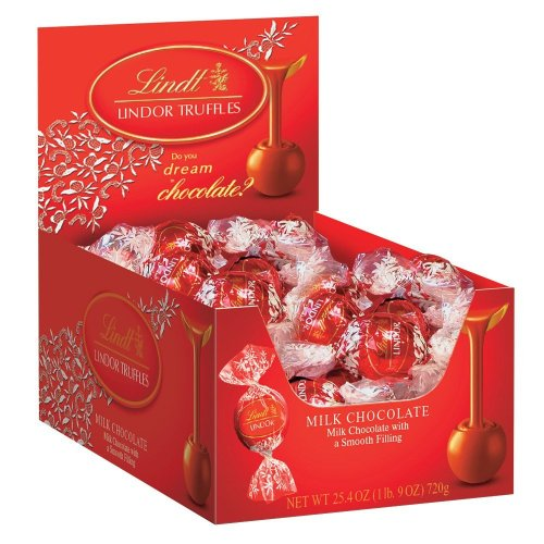 Standard Truffle Box (Lindt Lindor Truffles Milk Chocolate, 60-Count Boxes (Pack of 2))