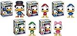 Funko POP! Duck Tales: Scrooge McDuck + Huey + Dewey + Louie + Webby - Disney Stylized Vinyl Figure Set NEW