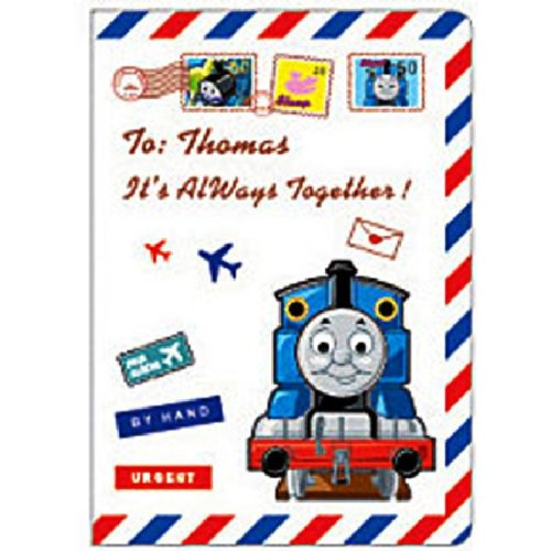 Thomas the Blue Railroad Tank Engine Airmail Passport Cover Holder ~ No more bent corners during travel ()