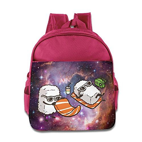 Sunbath Sushi Kids Backpack School Bag For Boys/girls Pink