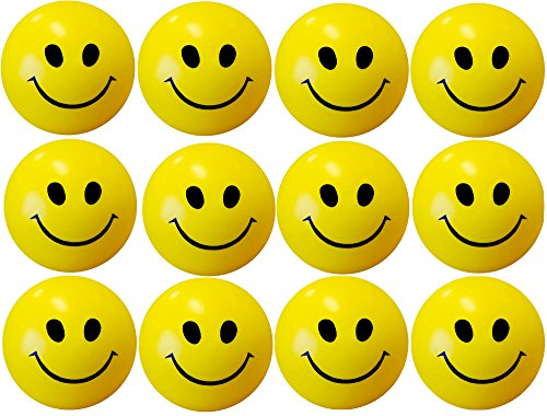 Stress Reliver Smiley Balls Pack of 12
