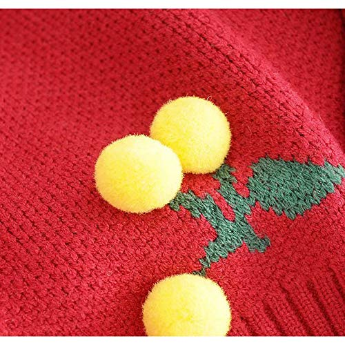 palline lana V in con a ricamo scollo a ricamo Cardigan White maglia palloncino donna sheng da con a con in Ju Ow0fqPExn