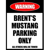 Personalized Metal Bar Man Cave Wall Sign with Mustang Parking Bestman, Groomsmen gift for Him