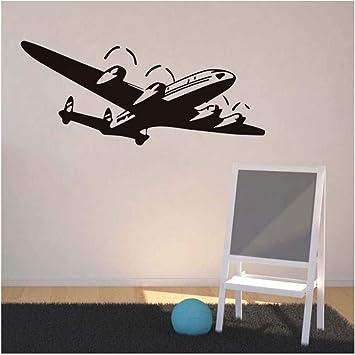 Avión 3D Tatuajes de Pared de Vinilo Adhesivo Etiqueta de La Pared ...