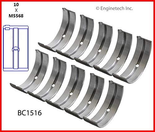 ENGINETECH BC1516STD MAIN BEARINGS (SIZE:STD) compatible with HONDA ACURA 1.6L 1.7L 2.2L 2.3L D16 D17 H22 F23