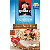 Quaker Instant Oatmeal, Lower Sugar, Maple & Brown Sugar, Breakfast Cereal, 10 Packets