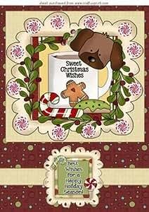 De la Navidad de cachorro de topper 2 por Sharon Poore