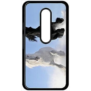 Carcasa Motorola Moto G 3 caballos blanco y negro en la ...
