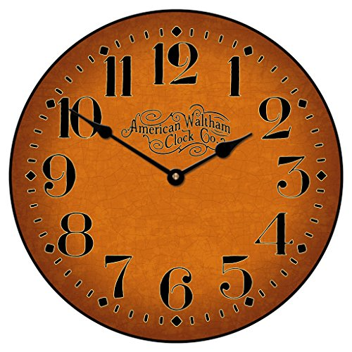 Houston Spice Wall Clock, Available in 8 Sizes, Most Sizes Ship 2-3 Days, Whisper Quiet.