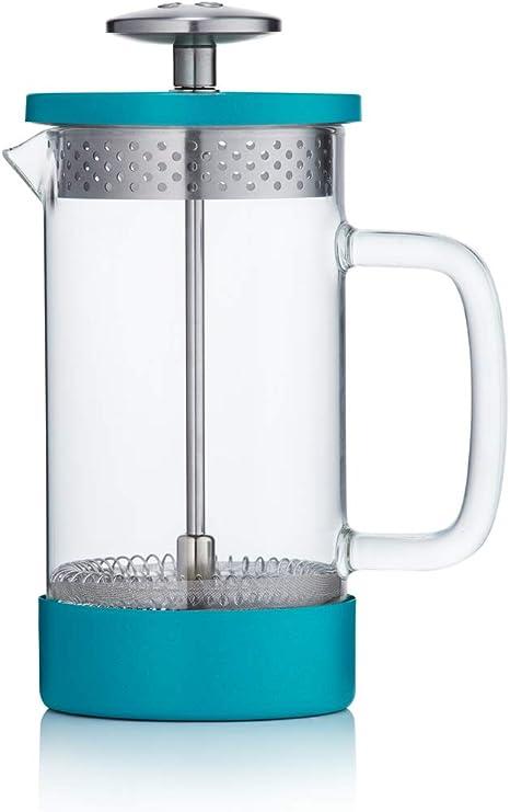 Barista & Co - Cafetera de prensa francesa, sin plástico, 3 tazas y 8 tazas 1 Mug 350ml azul: Amazon.es: Hogar