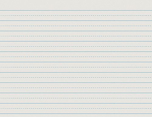 School Smart Alternate Ruled Paper for Grade 2-11 x 8 1/2 inches - Ream of 500 - White by School Smart