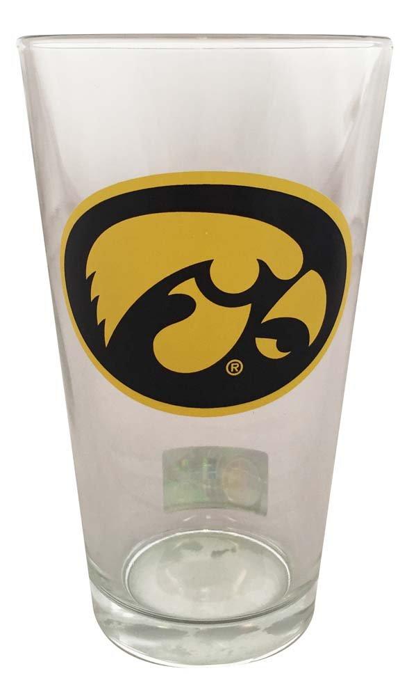 Boelter Brands Iowa Hawkeyes 16 oz Pint Glass Herky Head