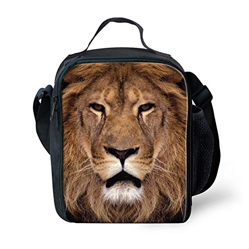 hugsidea-brown-animals-lion-print-lunch-bags-for-adults-kids-food-box