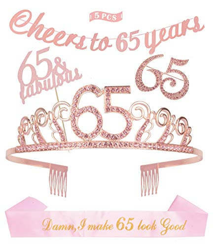Birthday Decorations Supplies Pink Glittery 65 Pink Rhinestone product image