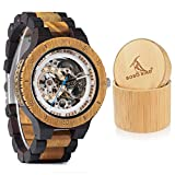 BOBO BIRD Mens Wooden Mechanical Watches Luxury Lightweight Large Size Watch for Men with Gife Box