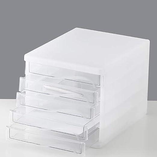 WENBING Gabinete De Escritorio Organizador De Escritorio Plástico Rack Archivo De Diseño De La Caja De Almacenaje Escritorio Ordenado 5 Cajones 25X33x26.5cm: Amazon.es: Hogar